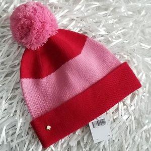 Kate Spade Pink & Red Beanie